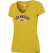 '47 Women's Los Angeles Lakers Arch Basic Gold V-Neck T-Shirt