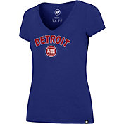 '47 Women's Detroit Pistons Arch Basic Royal V-Neck T-Shirt