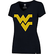'47 Women's West Virginia Mountaineers Blue Splitter V-Neck T-Shirt