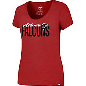 '47 Women's Atlanta Falcons Foil Red T-Shirt