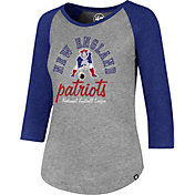 '47 Women's New England Patriots Club Grey Raglan T-Shirt
