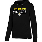 '47 Women's Pittsburgh Steelers Headline Black Pullover Hoodie