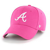 '47 Youth Girls' Atlanta Braves Basic Pink Adjustable Hat