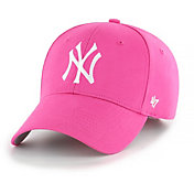 '47 Youth Girls' New York Yankees Basic Pink Adjustable Hat