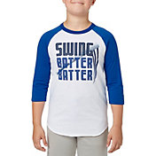 adidas Boys' Swing Batter ¾ Sleeve Baseball Shirt