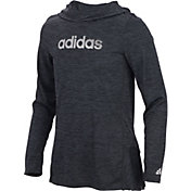adidas Girls' Space Dyed Melange Hoodie
