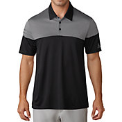 adidas Men's 3-Stripes Heather Block Golf Polo