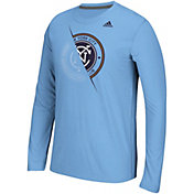 adidas Men's New York City FC Uncovered Ultimate Blue Long Sleeve T-Shirt