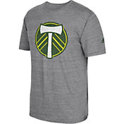 adidas Men's Portland Timbers Vintage Crest Grey T-Shirt
