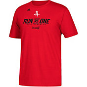 "adidas Men's Houston Rockets 2017 NBA Playoffs ""Run As One"" Red T-Shirt"
