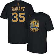 adidas Men's Golden State Warriors Kevin Durant #35 Black T-Shirt