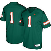 adidas Men's Miami Hurricanes Green #1 Replica Football Jersey