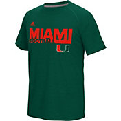 adidas Men's Miami Hurricanes Green Sideline Grind Ultimate T-Shirt