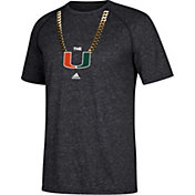 adidas Men's Miami Hurricanes Grey Ultimate Chain Football T-Shirt