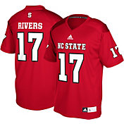 adidas Men's Philip Rivers NC State Wolfpack #17 Red Replica College Alumni Jersey