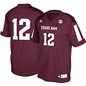 adidas Men's Texas A&M Aggies #12 Maroon Replica Football Jersey