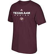 adidas Men's Texas A&M Aggies Grey Cotton T-Shirt
