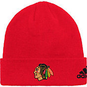 adidas Men's Chicago Blackhawks Basic Red Knit Beanie