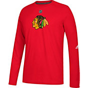 adidas Men's Chicago Blackhawks Primary Position Ultimate Red Long Sleeve Shirt