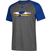 adidas Men's St. Louis Blues Resurface Ultimate Grey Performance T-Shirt