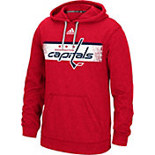 adidas Men's Washington Capitals Heather Red Pullover Hoodie