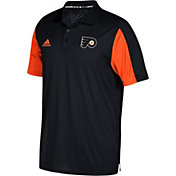 adidas Men's Philadelphia Flyers Authentic Pro Game Day Black Performance Polo