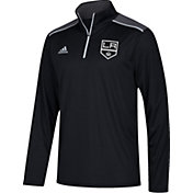 adidas Men's Los Angeles Kings Black Performance Quarter-Zip Jacket