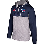 adidas Men's New York Rangers Navy/Grey Full-Zip Hoodie