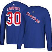 adidas Men's New York Rangers Henrik Lundqvist #30 Royal Long Sleeve Shirt