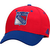 adidas Men's New York Rangers 100 Year Structured Red Flex Hat