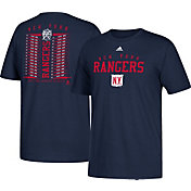 adidas Men's 2018 Winter Classic New York Rangers Lace Roster Navy T-Shirt