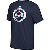 adidas Men's Colorado Avalanche Practice Ultimate Navy Performance T-Shirt