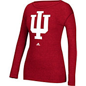 adidas Women's Indiana Hoosiers Crimson Red Long Sleeve T-Shirt