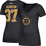CCM Women's Boston Bruins Patrice Bergeron #37 Black T-Shirt
