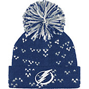 adidas Women's Tampa Bay Lightning Royal Cuff Pom Knit Beanie
