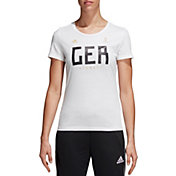 adidas Women's 2018 FIFA World Cup Germany Crest White T-Shirt