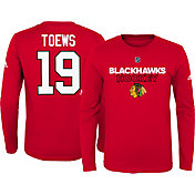 adidas Youth Chicago Blackhawks Jonathan Toews #19 Red Long Sleeve Shirt
