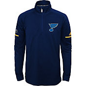 adidas Youth St. Louis Blues Authentic Pro Navy Quarter-Zip Jacket