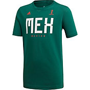 adidas Youth 2018 FIFA World Cup Mexico Crest Green T-Shirt