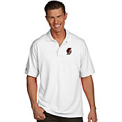 Antigua Men's Portland Trail Blazers Xtra-Lite White Pique Performance Polo