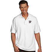 Antigua Men's Oklahoma City Thunder Xtra-Lite White Pique Performance Polo