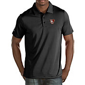 Antigua Men's Bowling Green Falcons Black Quest Polo