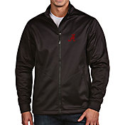 Antigua Men's Alabama Crimson Tide Black Full-Zip Golf Jacket