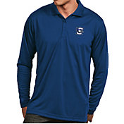 Antigua Men's Creighton Bluejays Blue Exceed Long Sleeve Polo