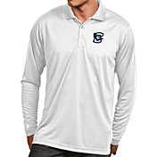 Antigua Men's Creighton Bluejays White Exceed Long Sleeve Polo