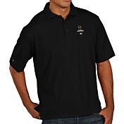Antigua Men's Georgia Bulldogs 2018 College Football Playoff National Championship Bound Pique Performance Black Polo
