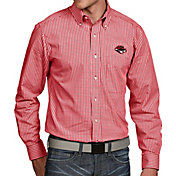 Antigua Men's UNLV Rebels Scarlet Associate Button Down Long Sleeve Shirt