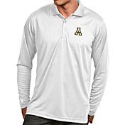 Antigua Men's Appalachian State Mountaineers White Exceed Long Sleeve Polo