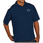 Antigua Men's Penn State Nittany Lions Blue Pique Xtra-Lite Polo