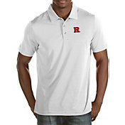 Antigua Men's Rutgers Scarlet Knights White Quest Polo